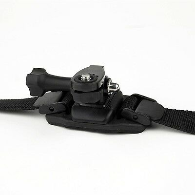Action Camera Vented Helmet Strap Mount 1/4 inch thread
