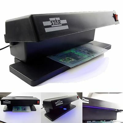 Uk Uv Counterfeit Money Detector Checker Fake Bank Note Banknote Forgery Tester