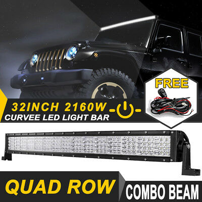 """32inch 1620W PHILIPS Curved LED Light Bar TRI-ROW Offroad ATV Truck UTE 30"""" 35"""""""