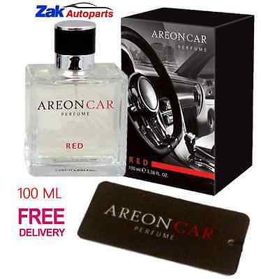 Areon Quality Car Perfume Cardboard Luxury Air Freshener RED - 100ML *NEW*