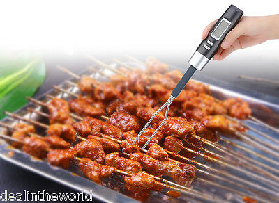 Kitchen Digital BBQ Electronic Meat Food Turkey Thermometer Barbecue Fork Probe
