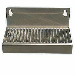 "Beer Drip Tray 6"" Stainless Steel Wall Mount w/ No Drain"