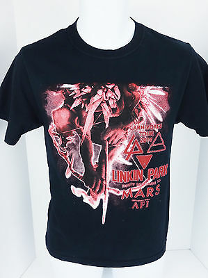 Small Linkin Park Archer Carnivores 2014 Tour Concert T Shirt Crew Neck