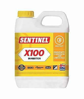 10 x Sentinel X100 Central Heating Scale Inhibitor 1Ltr x 10