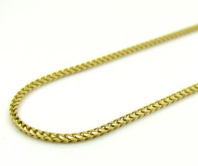 """14K Yellow SOLID Gold Diamond Cut Franco Chain Necklace - 1.10MM Size 16""""-22"""""""