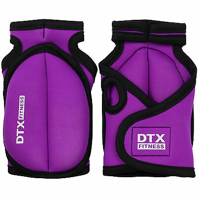 DTX Fitness Purple Weighted Workout Gloves Gym Training Exercise Weights Jogging