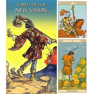 Tarot of the New Vision 6 Languages 79 English Deck Cards New FREE TRACK