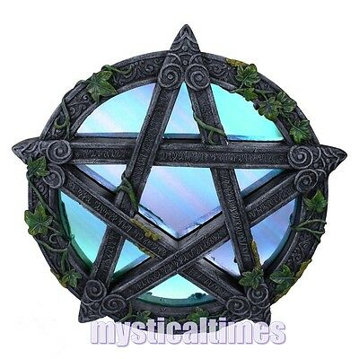 New * Pentagram * Wiccan Wicca Wall Mirror Decoration From Nemesis Now