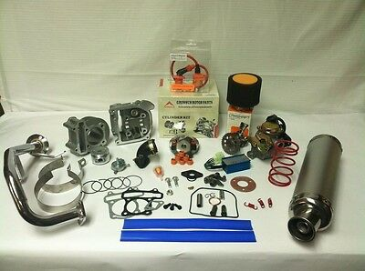 Scooter Big Bore Kit 100cc 50mm Bore QMB139 GY6 Scooter Performance Parts silver