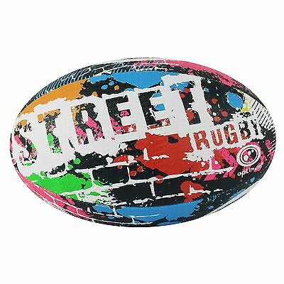 Optimum Street Rugby Ball - Black Size 4