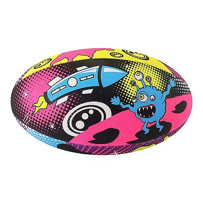 Optimum Space Monster Rugby Ball Multi-coloured Size 4