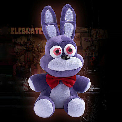 """1 PCS 10"""" FNAF Five Nights At Freddy's Bonnie Plush Soft Toy Gifts UK SHIPPING"""