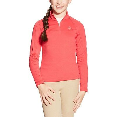 Ariat Conquest Fleece Quarter Zip Top - Girls/Kids - Azalea Pink - Diff Sizes