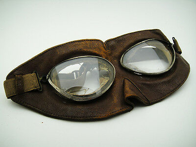 VINTAGE ITALIAN PROTECTOR 30's AVIATOR Pilot GOGGLES FACE MASK Motorcycle Rider