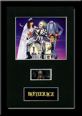 Beetlejuice Framed 35mm Mounted Film cells - filmcell movie
