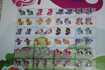 24 Pairs Girls My Little Pony Sticker Earring Set STOCKING FILLER