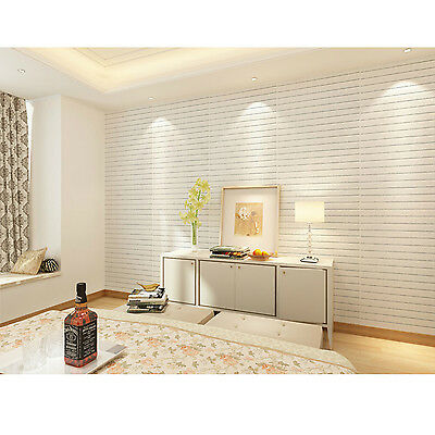 Lots 3D effect Flexible Stone Brick Wall Textured Viny Wallpaper Self-adhesive T