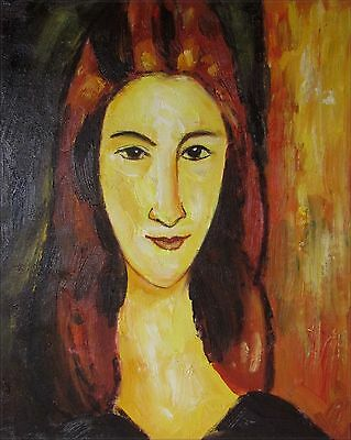 Modigliani Portrait of Jeanne Repro, Quality Hand Painted Oil Painting, 8x10in
