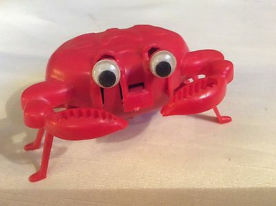 VTG Wind Up Walking Red Crab made in Hong  Kong  Windup Toy