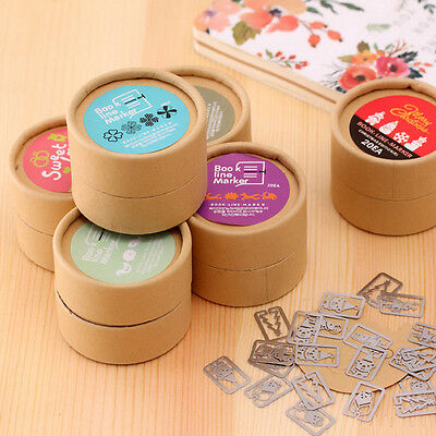 20 Pcs Cute Mini Metal Bookmarks Office School Book Note Clip with Case Box gift