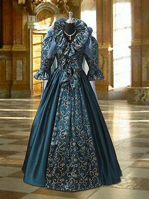 Renaissance Beautiful Gown Medieval Fairy Queen Dress Victoria Taffeta Handmade