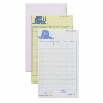 Zions Carbonless Triplicate Restaurant Docket Book