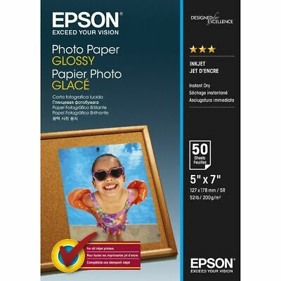 Epson 200gsm 5 x 7 Glossy Photo Paper 50 Sheet Pack
