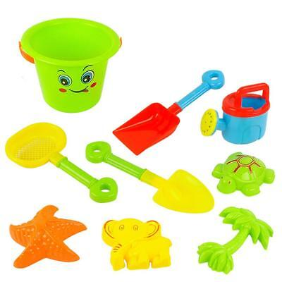 9 Pieces Kids Beach Bucket Play Set Swimming Sand Pit Holiday Travel Toy