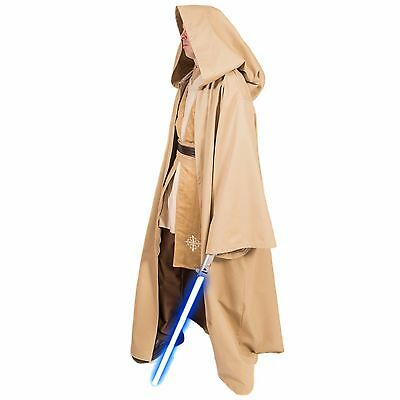Star Wars Custom Costume Cotton Obi-Wan Jedi Knight Robe Sith Lord halloween men