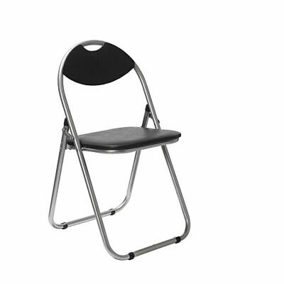 Padded Folding Chair Black