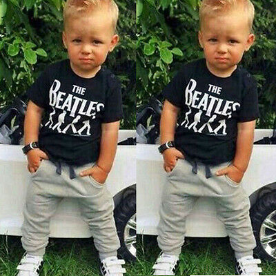Toddler Kids Baby Boy T-shirt Tops+ sweaterpants Trousers Outfits Clothing Set