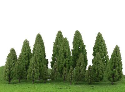 20pcs Mixed Scale Trees Model Train Forest Diorama Scenery Layout HO OO N Z