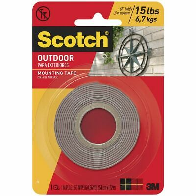 Scotch Permanent Outdoor Mounting Tape 25.4mm x 1.51m
