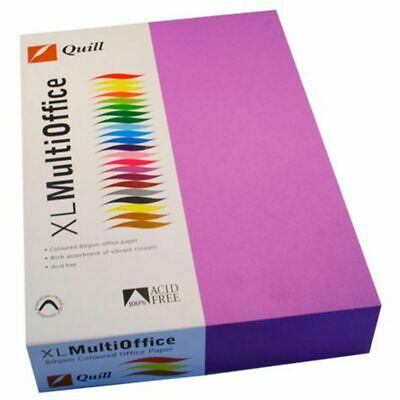 Quill Coloured Paper 80gsm A4 Lilac 500 Sheet Ream