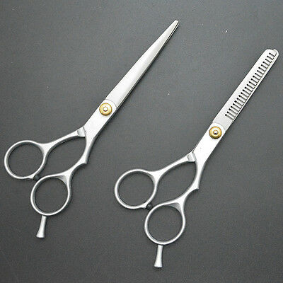 """Hair Scissors 6"""" Professional Cutting Thinning Shears Barber Set Hairdressing"""