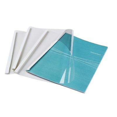 NEW Fellowes 3mm A4 Thermal Covers White 100 Pack Binder
