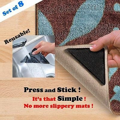 Rug Grip Pro Reusable Rug Gripper - Set of 8 Ruggies Carpet Gripper without box