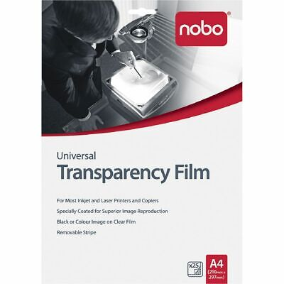 NEW Nobo A4 Transparency Film 25 Pack Overhead Projector