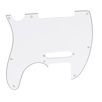 White 3-ply 8 hole Pickguard for Telecaster Tele Scratchplate