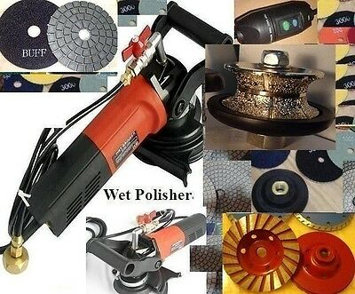 """1 1/4"""" Full Bullnose 30mm Router Bit Wet Polisher Pad Buff Cup Granite concrete"""