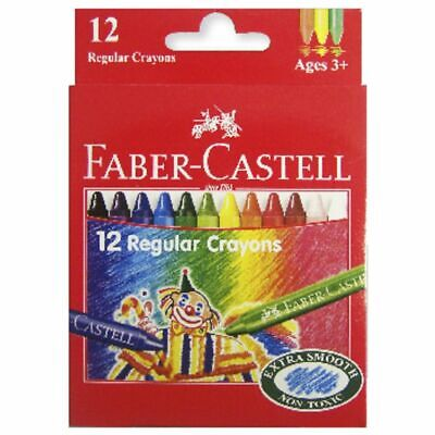 Faber-Castell Regular Wax Crayons 12 Pack