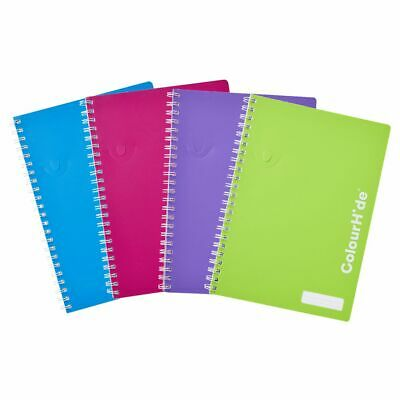 ColourHide A4 Notebook 120 Pages 4 Pack