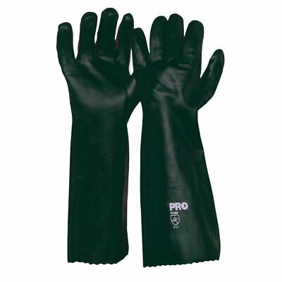 ProChoice Long PVC Double Dip Gloves Green