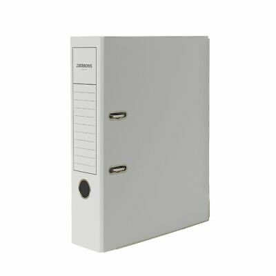 J.Burrows Gloss Lever Arch File A4 2 Ring White