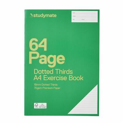 Studymate A4 18mm Dotted Thirds Exercise Book 64 Page