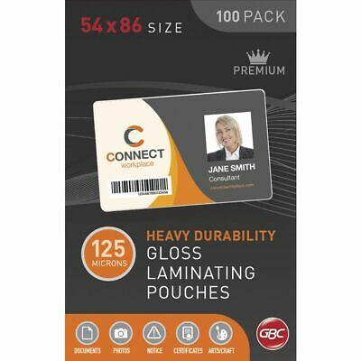 GBC Laminating Pouch Credit Card 125 Micron Gloss 100 Pack