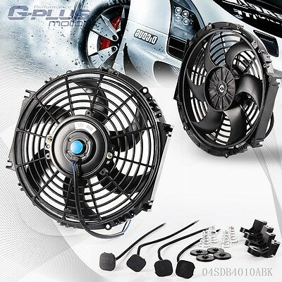 "UK 12V 10"" Universal  Slim Pull Push Racing Electric Radiator Engine Cooling Fan"