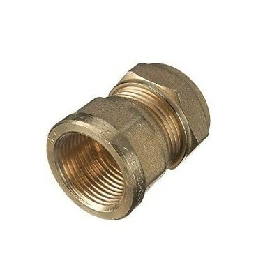 """Compression 15mm Copper to 1/2"""" BSP Brass Female Iron Thread Connector Adapter"""