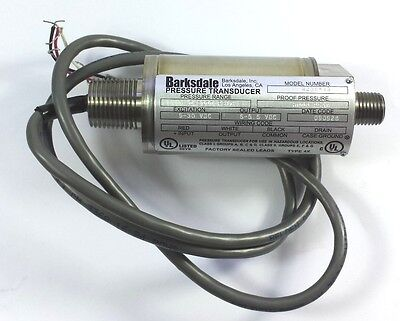Barksdale 423X-13 1/4MPT SS 9-30VDC 0-3000PSI Pressure Transducer