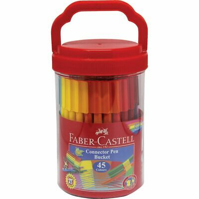 Faber-Castell Connector Pens in Bucket 45 Pack